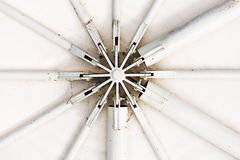 Steel structure for tents Royalty Free Stock Photo