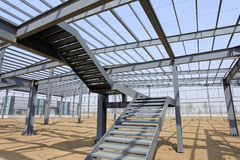 The steel structure. Is under construction Royalty Free Stock Photo