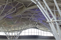 Steel structure under the roof of building Royalty Free Stock Image