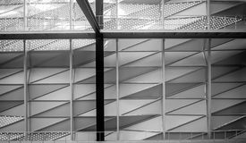 Steel structure. Used to frame in a large commercial building. Facade design, soft focus Stock Photography