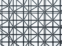 Steel structure weave pattern Architecture detail construction. Modern Building Royalty Free Stock Images
