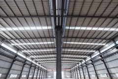 Steel structure workshop closeup Royalty Free Stock Images