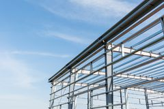 Steel structure workshop Royalty Free Stock Photography