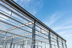 Steel structure workshop Stock Photography