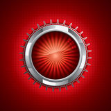 Steel style security button Stock Photo