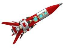 Steel stylized space rocket Stock Photography