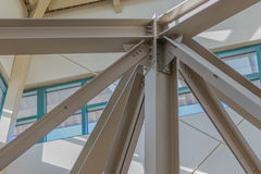 Steel support beams at a mall. Architechtural steel support beams at a mall Stock Photo
