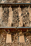 Steel support rails Royalty Free Stock Images