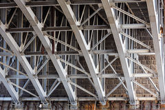 Construction of bridge support Royalty Free Stock Images