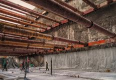 Steel support structure site 2 Stock Photography