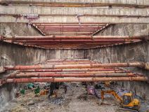 Steel support structure site 3 Stock Photos