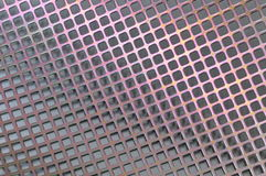 Steel surface with holes Stock Image