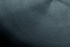 The steel surface with the semicircular lines. Stock Image