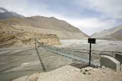 Steel suspension bridge, mustang Stock Photos
