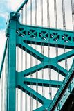 Vertical Suspension Bridge Tower Royalty Free Stock Image