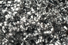 Steel swarf Royalty Free Stock Images