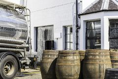 View of a whisky distillery royalty free stock image