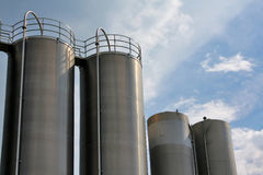 Steel tanks Royalty Free Stock Images