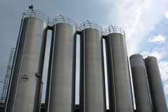Steel tanks Royalty Free Stock Photo