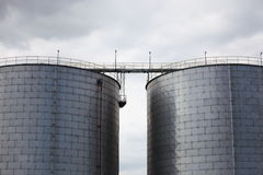 Steel tanks Stock Photography