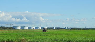 Steel tanks, Lithuania Royalty Free Stock Photo
