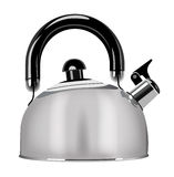 Steel teapot. Vector steel teapot in real style Royalty Free Stock Photos