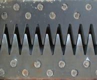 Steel teeth stock photo