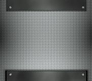 Steel template with copy space metal background Stock Image