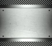 Steel template with copy space metal background Stock Images