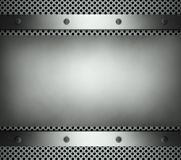 Steel template with copy space metal background Royalty Free Stock Photography