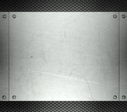 Steel template with copy space metal background Stock Photography