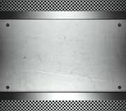 Steel template with copy space metal background Royalty Free Stock Photos