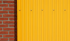Steel texture corrugated sheet pattern Royalty Free Stock Images