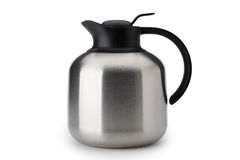 Steel thermos with clipping path Royalty Free Stock Images