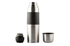 Steel thermos details Royalty Free Stock Image