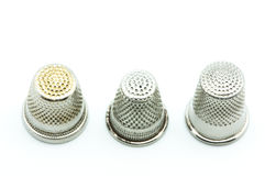 Steel thimble Royalty Free Stock Photography