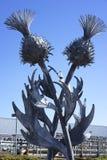 Steel thistle sculpture - Edinburgh, Scotland Stock Photography