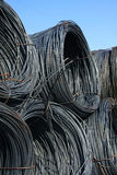 Steel thread rolls. The reinforcing steel bar rolls Royalty Free Stock Image