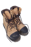 Steel toe boots stock photography