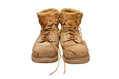 Steel toe workboots Royalty Free Stock Images