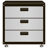 Steel tool box. With drawers. Vector illustration Stock Photo