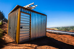 Steel Tool-Shed Construction Stock Images