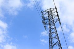Steel tower and blue sky Royalty Free Stock Photos