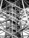 Steel tower with steps. An old steel tower with a winding staircase Stock Photography