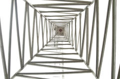 Steel tower structure Stock Image