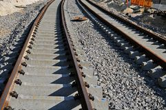 Construction of a streetcar line Stock Photography