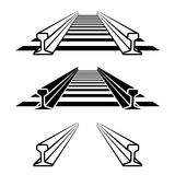 Steel train rail track profile symbol. Illustration for the web Stock Photo