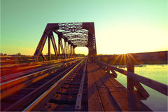 Steel Train trestle Stock Photos