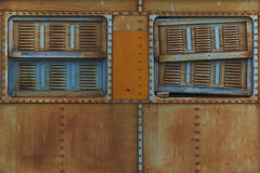 Steel Train Window Stock Photography