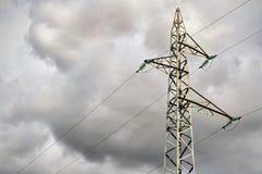 Steel transmission line Stock Photo